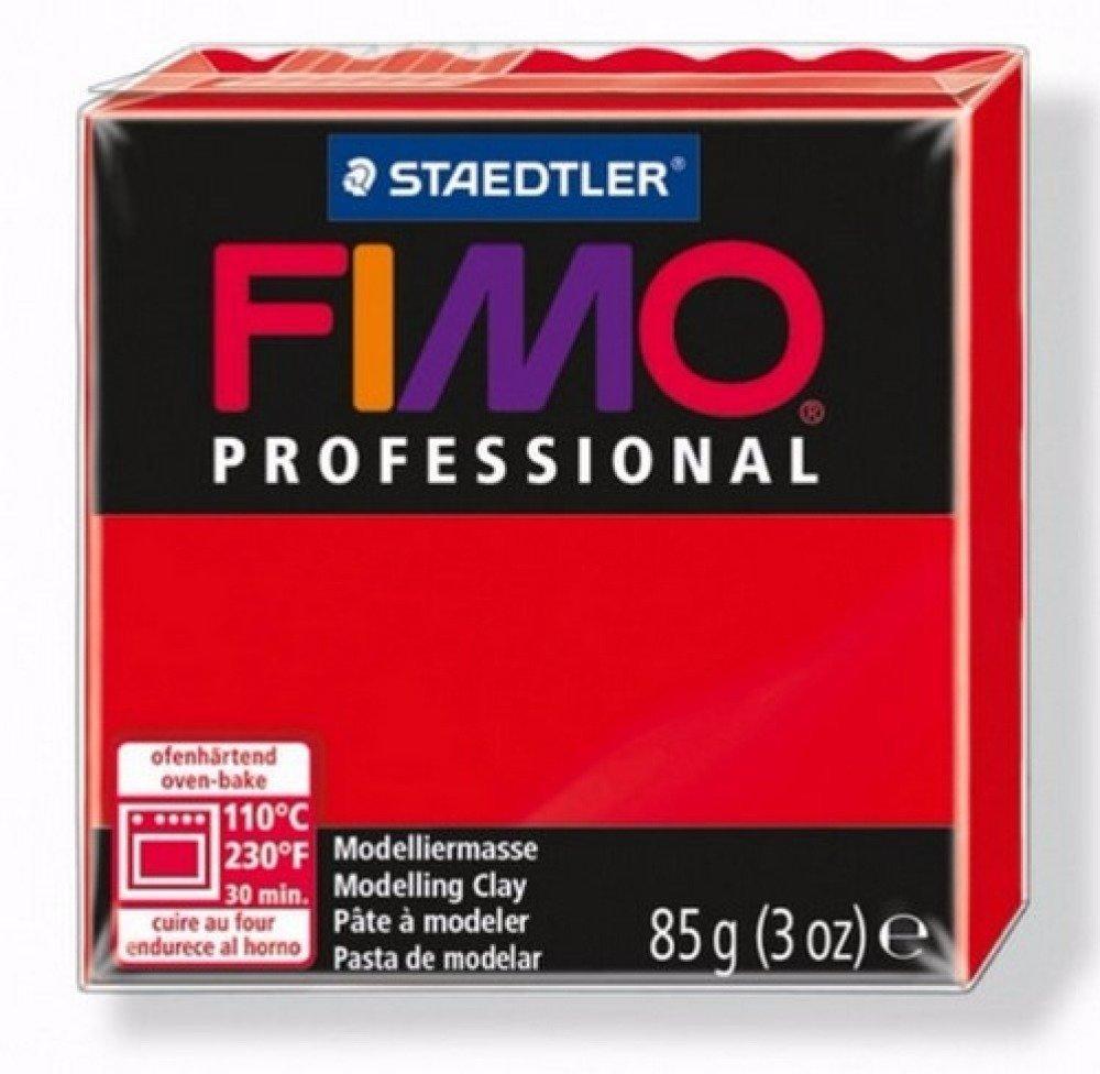 Pâte Fimo Professional Rouge Pur 200 85gr