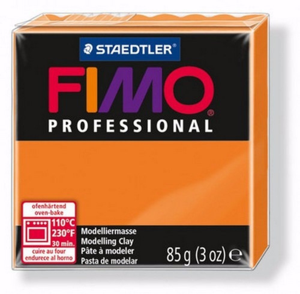 Pâte Fimo Professional Orange Pur 4 85gr