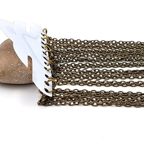 Creafirm 12 Colliers 51cm Chaine /à Billes 2.4mm Bronze
