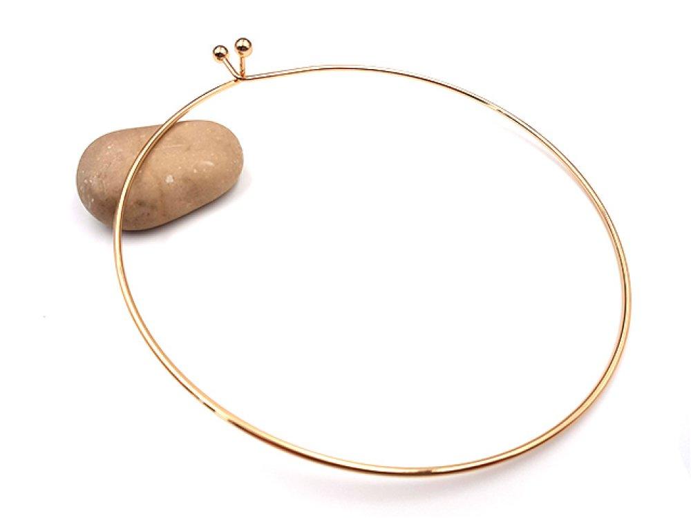 2 supports colliers ras-du-cou couleur or doré