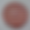 Cabochon avec son image de marinière, rouge, blanc, en verre, rond, 20 mm