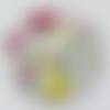 Cabochon de verre, fée, 25 mm, multicolore