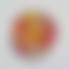 Cabochon de verre, fleurs liberty, 12 mm, multicolore,