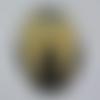 Cabochon, ovale, ailes d'anges, en verre 18 x 25 mm