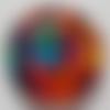 Cabochon de verre multicolore, 20 mm,