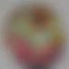 Cabochon de verre, imprimé de fleurs libertys, 20 mm,