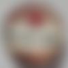 Cabochon de verre, image d'écriture mon coeur soupire, 20 mm,