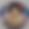 Cabochon de verre, pierrot, 20 mm,
