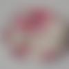 Cabochon de verre, image de fleurs roses, 20 mm, multicolore,