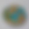 Cabochon, géométrique, 20 mm, multicolore