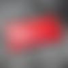 Porte monnaie pochette rangement trousse en cuir de veau véritable rouge mat
