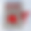 Étui pour épingles et aiguilles en lin , fait main et brodé main,  contenant aiguilles et épingles h 13,5 cm et l 9,5 cm