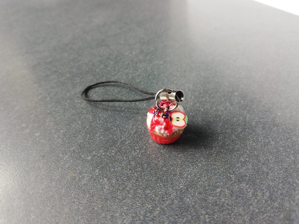 Strap cupcake rouge pomme