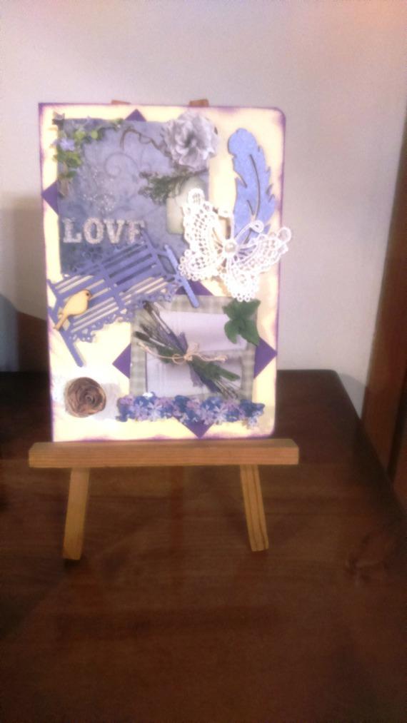 carte   en 3D faite main pour Saint Valentin ou annversaire