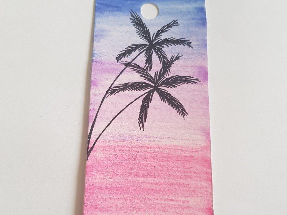 marque page aquarelle palmier