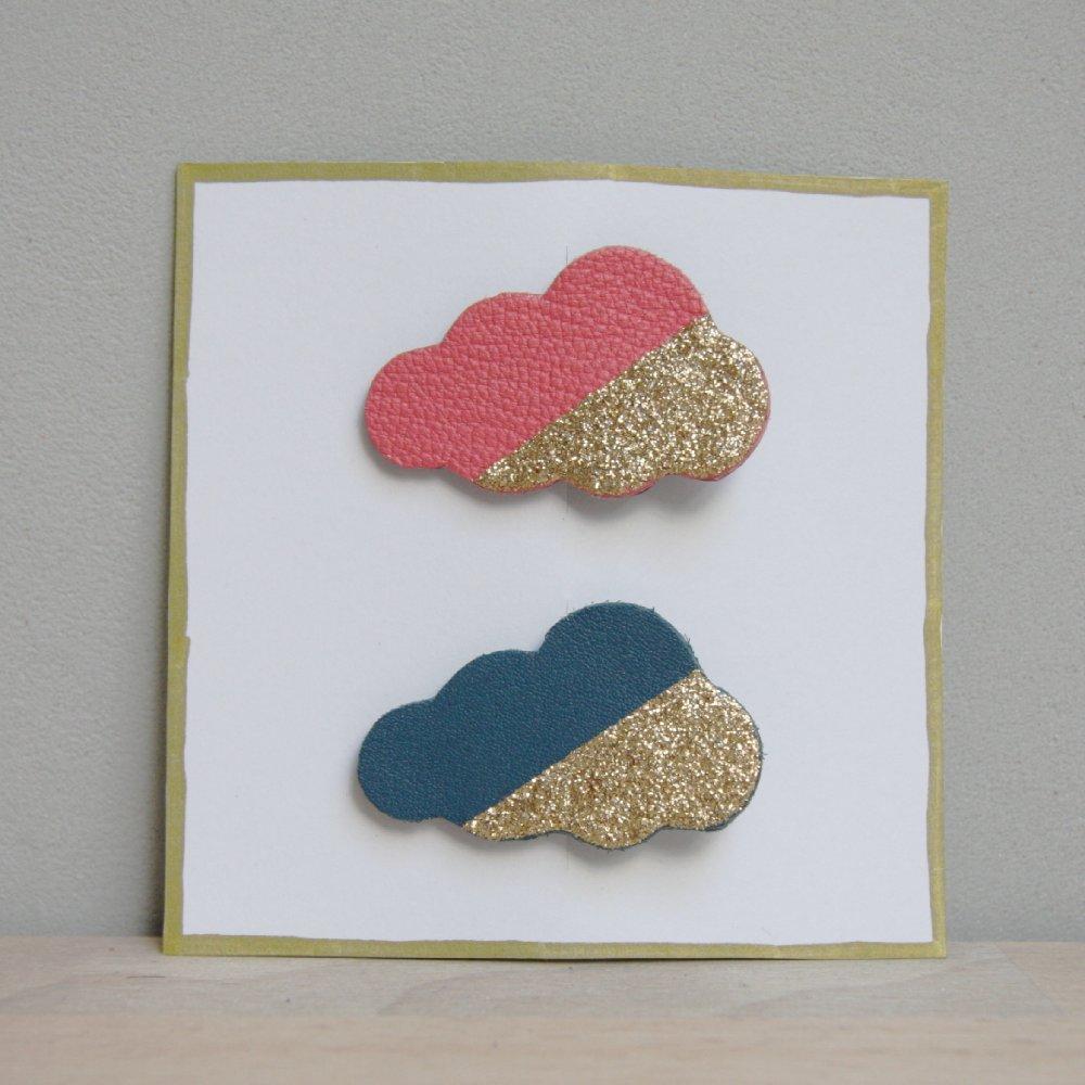 Lot de 2 barrettes nuages - coloris AU CHOIX