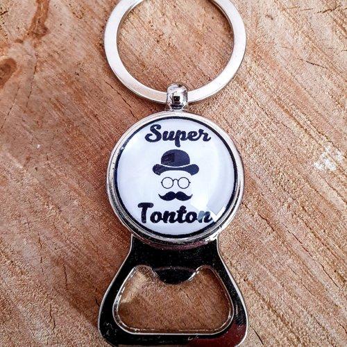 """Porte-clés décapsuleur """"super tonton"""""""