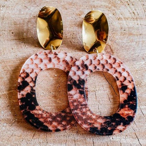 """Boucles d'oreilles """"ovales"""" - modèle rouille"""