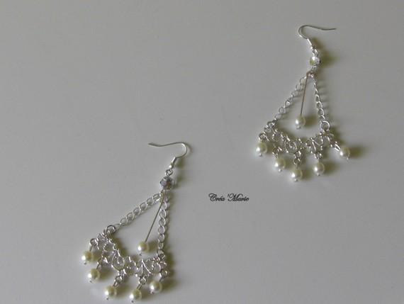 Boucles d'oreilles pendantes style chandelier FEERIE Bo115