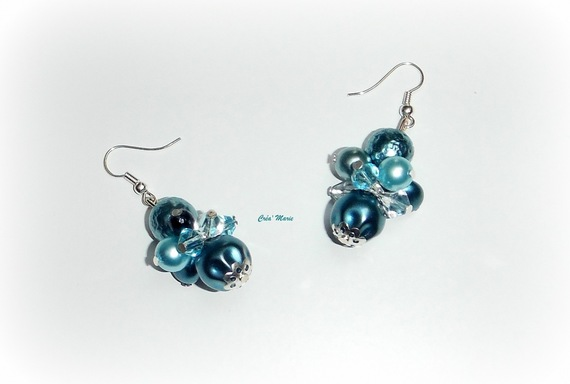 ANNE - Boucles d'oreilles turquoise