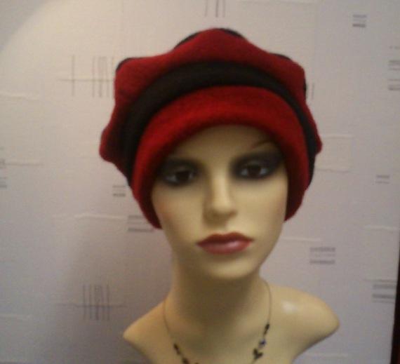 Sandra noir et rouge