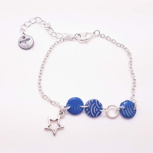 Bracelet star  bleu roi