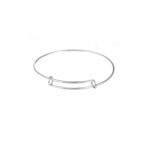 2 bracelets jonc réglable en acier inoxydable 7 cm de diamètre à customiser