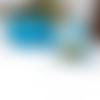 50 x sachet organza 9cm x 7cm couleur bleu clair