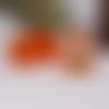 50 x sachet organza 9cm x 7cm couleur orange