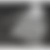 100 x sachet organza 12cm x 9cm couleur blanc motifs coeurs