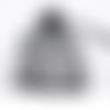 100 sachets en polyester 9cm x 7cm avec cordon de serrage couleur noir
