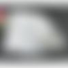 100 x sachet organza 12cm x 9cm couleur blanc