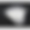 100 présentoirs boucles d'oreilles 8.8cm x 5cm couleur blanc avec sachet autocollant