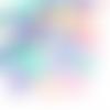 300 x perle coeur 8mm multicolore en acrylique tons pastels