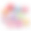 200 x perle coquillage 12mm x 10mm multicolore en acrylique