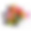 200 perles cubes 10mm multicolores en acrylique