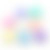 45 x perle pastille 12mm multicolore tons pastels en acrylique