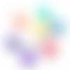 150 x perle ronde 6mm multicolore pastel en acrylique