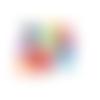500 perles rondes 6mm multicolores en acrylique