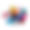 50 perles rondes 14mm multicolores en acrylique