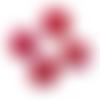 5 balles (perles sans trou) 32mm en mousse et paillettes couleur rose ab