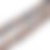 15 perles étoile 22mm x 20mm couleur marron et bleu en céramique