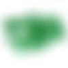 45 perles rondes 8mm en verre craquelé vert