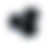 100 perles rondelles 6mm x 4.4mm en verre à facettes couleur noir
