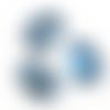 10 perles irrégulières 26mm x 20mm en verre à facettes bleu foncé