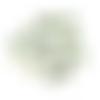 100 perles cube 5mm en verre à facettes transparent vert et orange
