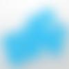 50 perles rondes 8mm en verre à facettes bleu lac