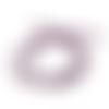 100 perles cube 3mm en verre à facettes transparent violet