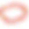 50 x perle feuille 11mm x 6mm en verre rouge orange