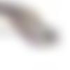 10 perles goutte 17mm x 14mm en verre violet ab